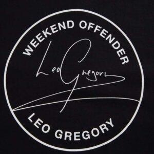 Crna Majica Leo Gregory potpis Weekend Offender 3